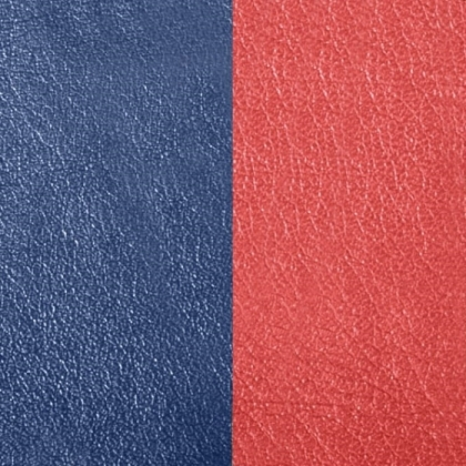 Кожаная вставка Les Georgettes 40 mm rust/navy blue