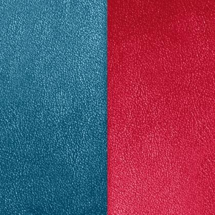 Кожаная вставка Les Georgettes 25 mm blu/raspberry