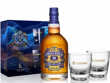 Chivas Regal 18YO + 2 glasses 40%   0.70L