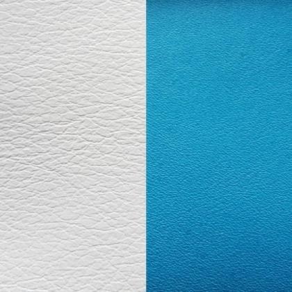 Кожаная вставка Les Georgettes 40 mm turquoise/white