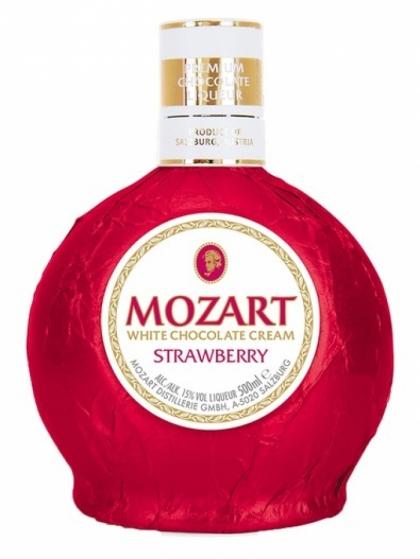 Mozart White Chocolate Cream Strawberry 17% 0.5L