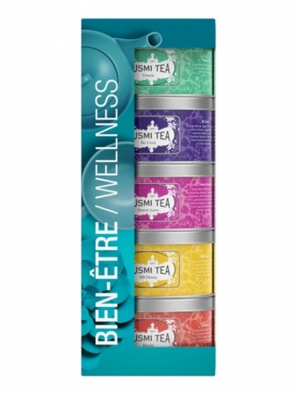 KUSMI Wellness Teas sampler pack 5x25g tins