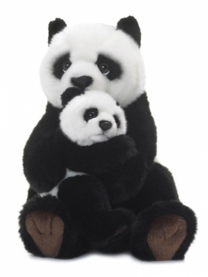 WWF Panda mother & child 28 cm