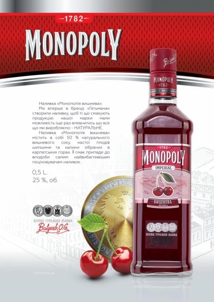 Наливка Монополія Вишнева 0.5L