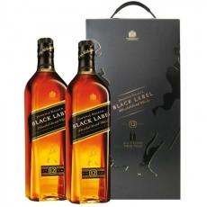 Johnnie Walker Black Label Twinpack 1L