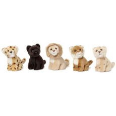 WWF Wild cats sitting 5 ass. 14cm