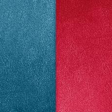 Кожаная вставка Les Georgettes 40 mm blu/raspberry