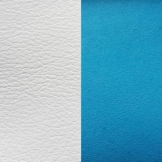 Кожаная вставка Les Georgettes 25 mm turquoise/white