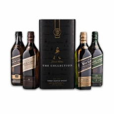 Johnnie Walker Cube Collection (Black, Gold, Platinum, Blue) 4*0.2L