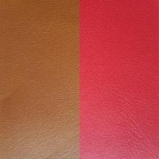 Кожаная вставка Les Georgettes 25 mm scarlet/tabacco